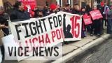Leraren uit Chicago in actie tegen slechte werkomstandigheden